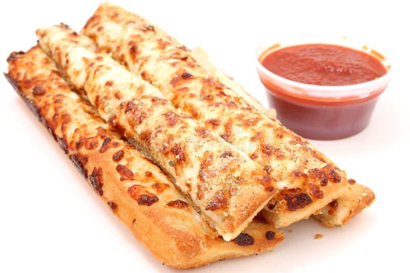 Pan del queso y salsa de Marinara imagen de archivo
