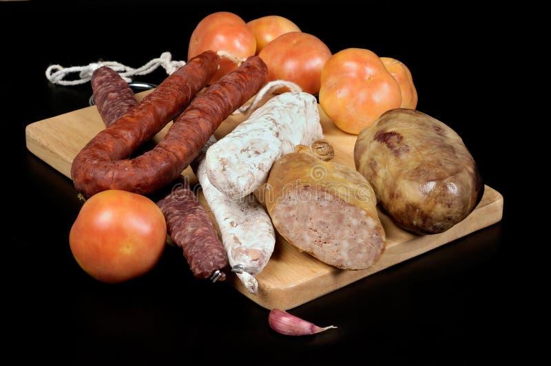 Pan del tomate con el catalan típico imagen de archivo libre de regalías