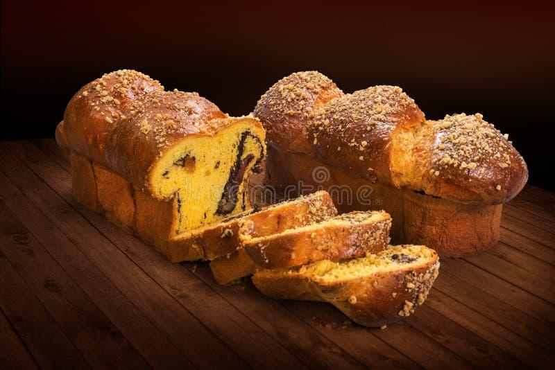pan di Spagna tradizionale rumeno fotografia stock libera da diritti