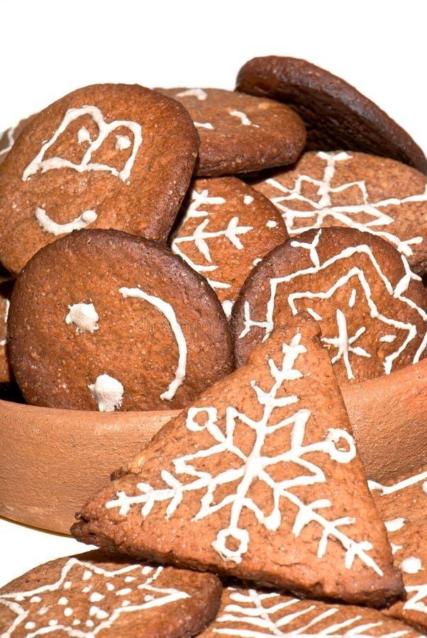 Pan di zenzero casalingo di Natale fotografia stock