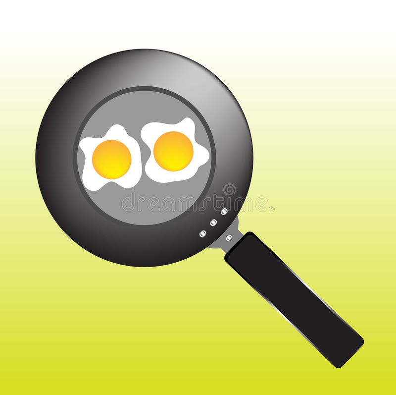 Download Pan with eggs stock vector. Image of heat, isolated, nutrition - 7190983