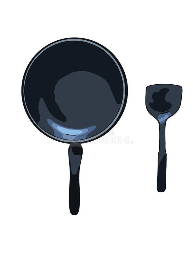 Pan en vin vectorillustratie vector illustratie