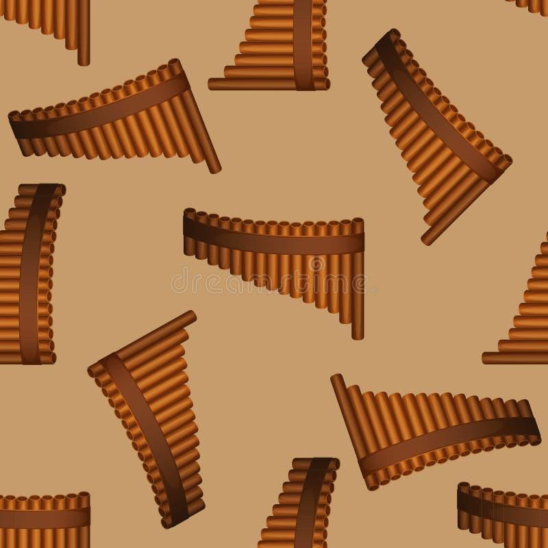 Pan-Flötenmuster stock abbildung