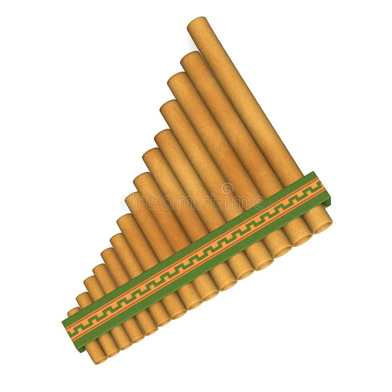 Download Pan flute stock illustration. Illustration of comanche - 11158815