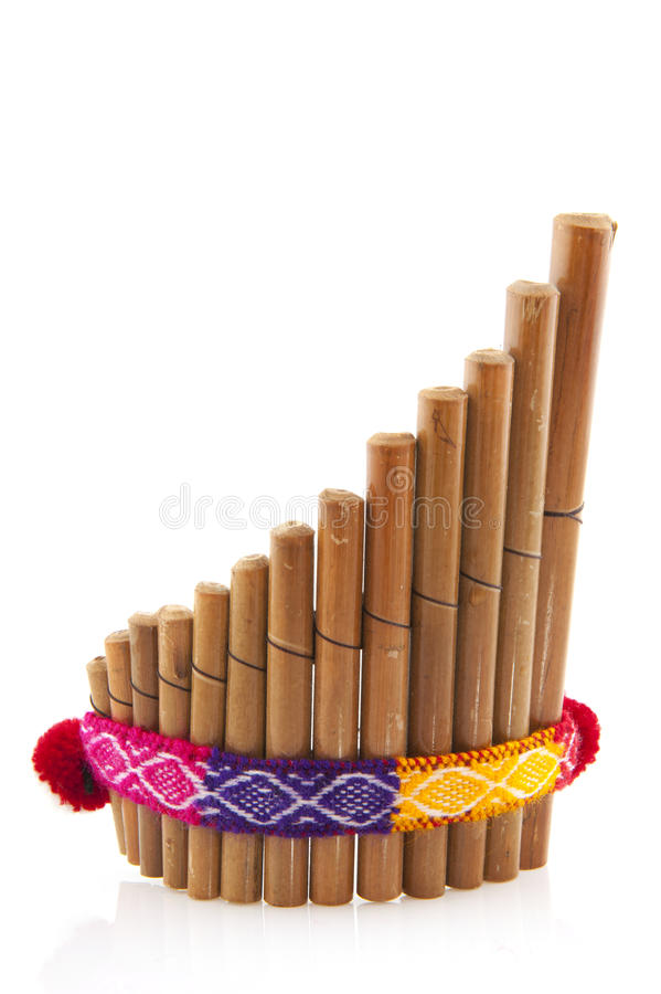 Download Pan flute stock photo. Image of instrument, white, panpipes - 14448760