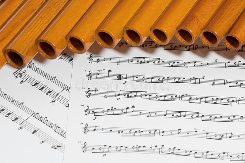 Download Pan Flute And Notes Royalty Free Stock Images - Image: 23277339