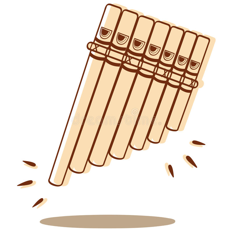 Pan Flute vektor stock illustrationer