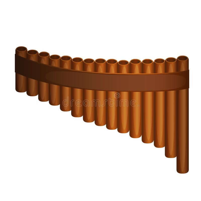 Pan Flute-Vektor vektor abbildung