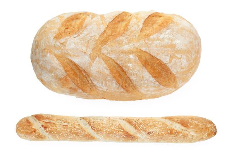 Pan francés y baguette fotos de archivo