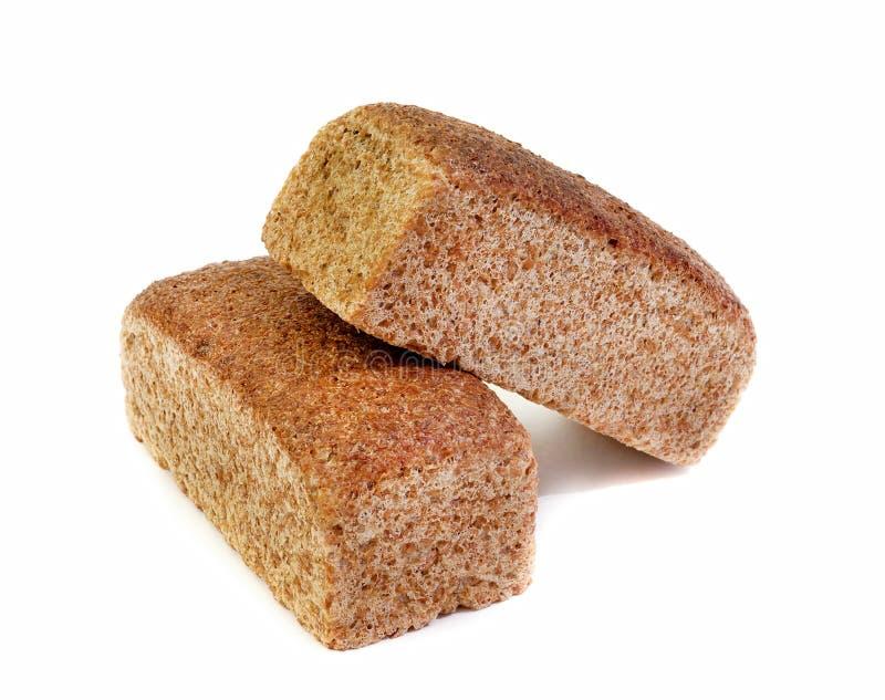 Pan fresco de Rye aislado en el fondo blanco foto de archivo