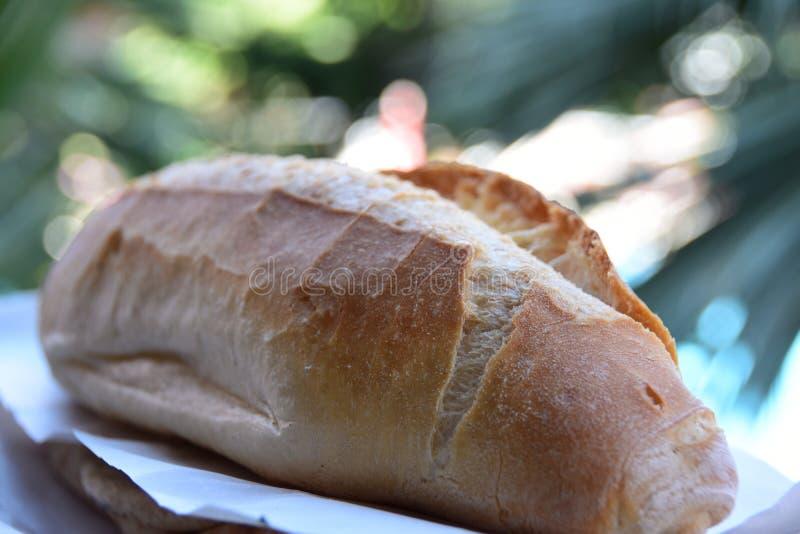 Pan fresco en el escaparate imágenes de archivo libres de regalías
