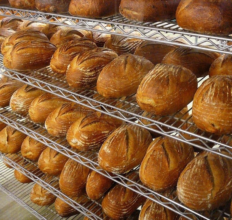 Pan fresco en panadería imagenes de archivo