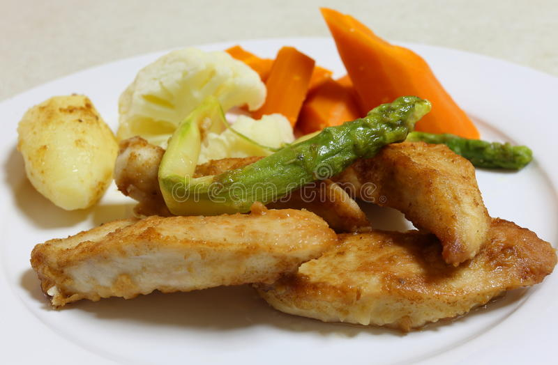 Download Pan Fried Chicken And Veg Stock Photo - Image: 89519072