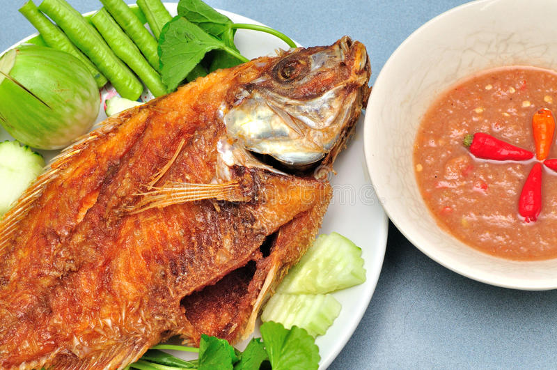Pan Fried Fish Royalty Free Stock Images