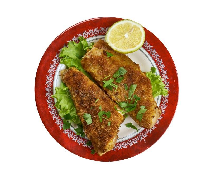 Pan Fried Fish créole images stock