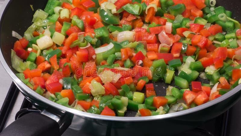 Pan fried vegetables - stir-fry stock photo