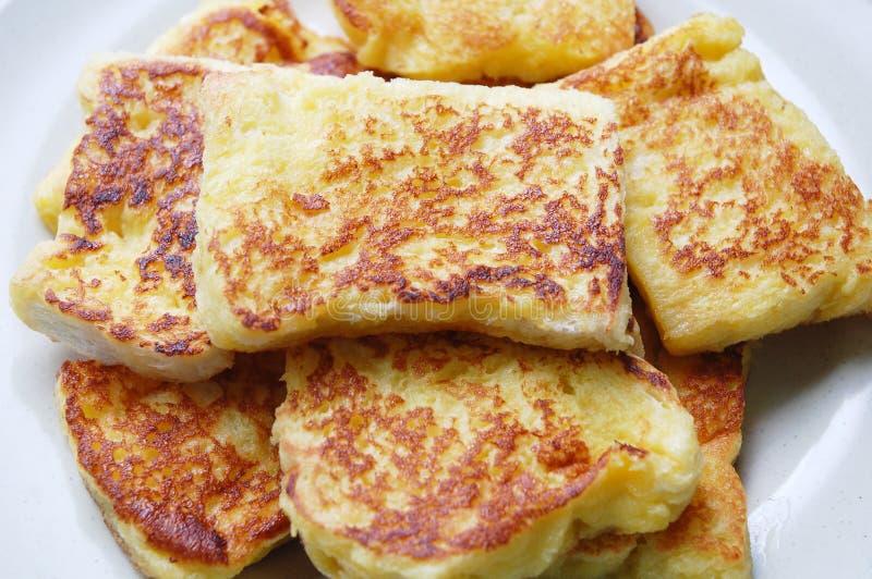 Pan frito y huevo imagen de archivo libre de regalías