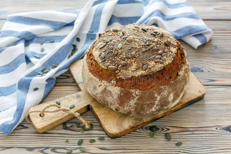 Pan hecho en casa de la calabaza foto de archivo libre de regalías