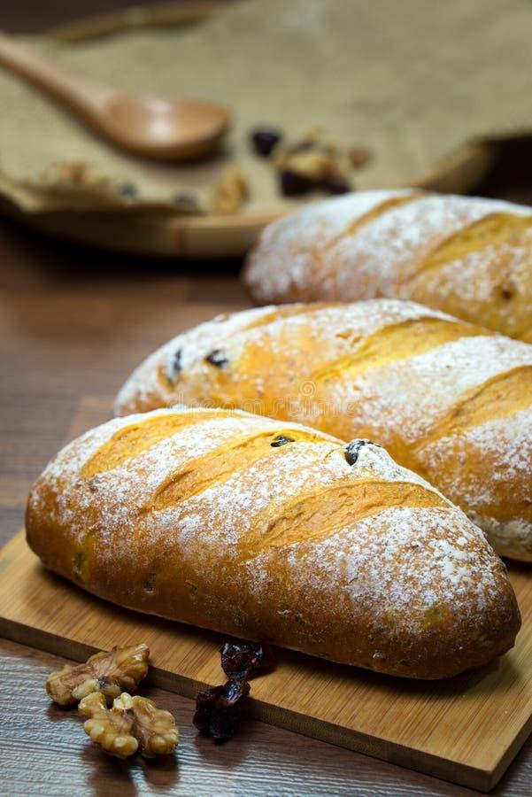 Pan hecho en casa de la nuez y del arándano fotos de archivo libres de regalías