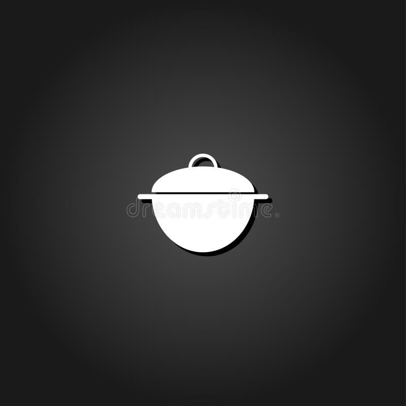 Pan-Ikone flach lizenzfreie abbildung