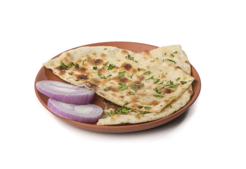 Pan indio de Naan imagen de archivo
