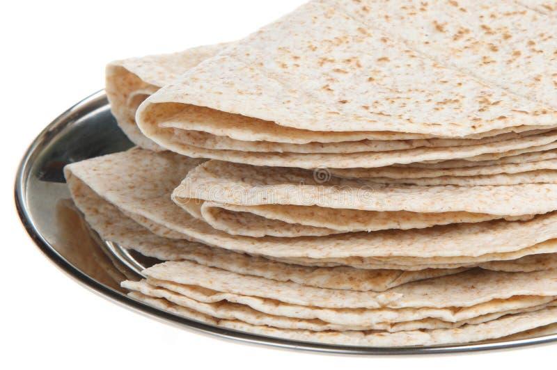 Pan indio del chapati imagenes de archivo