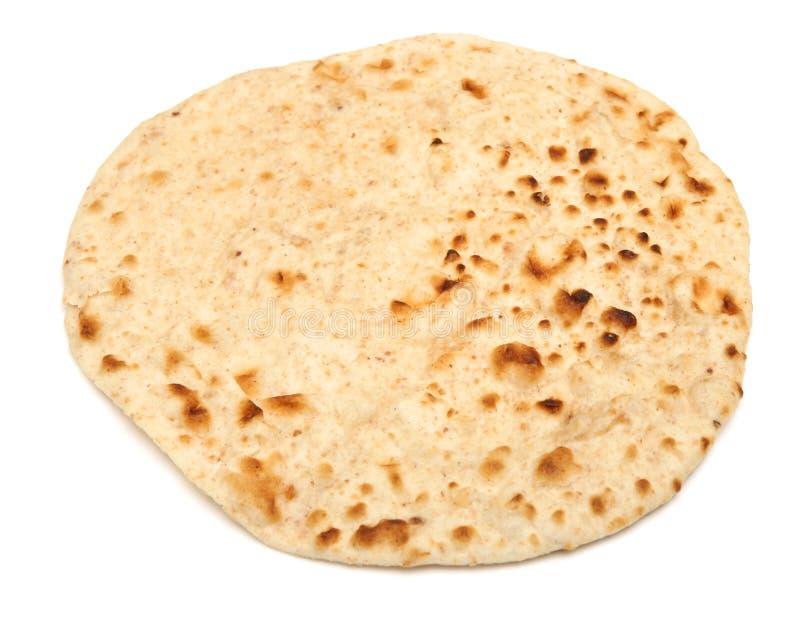 Pan indio del chapati aislado en blanco foto de archivo libre de regalías