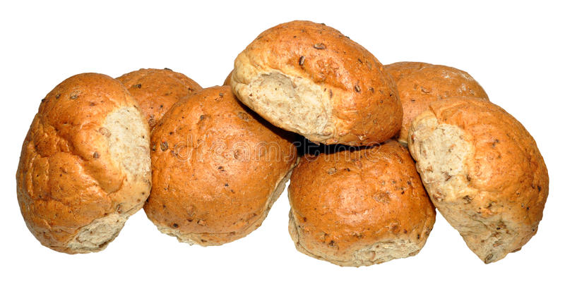 Pan integral crujiente Rolls imagen de archivo