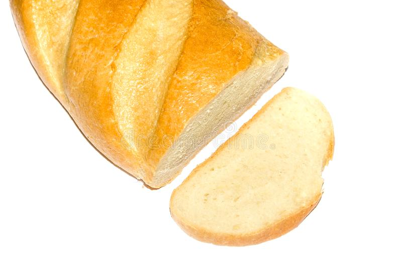 Pan largo aislado en blanco foto de archivo