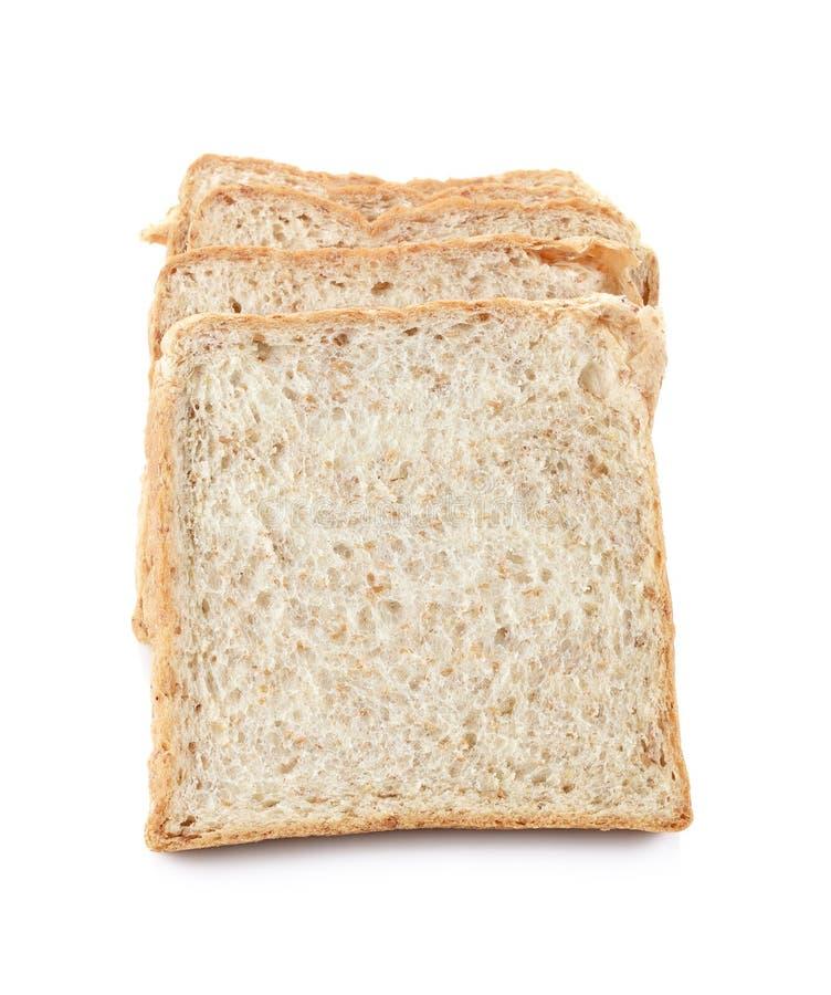 Pan marrón cortado aislado en blanco, trayectoria de recortes incluida imágenes de archivo libres de regalías