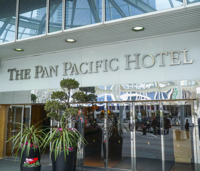 The Pan Pacific Hotel in Vancouver - VANCOUVER - CANADA - APRIL 12, 2017 stock image