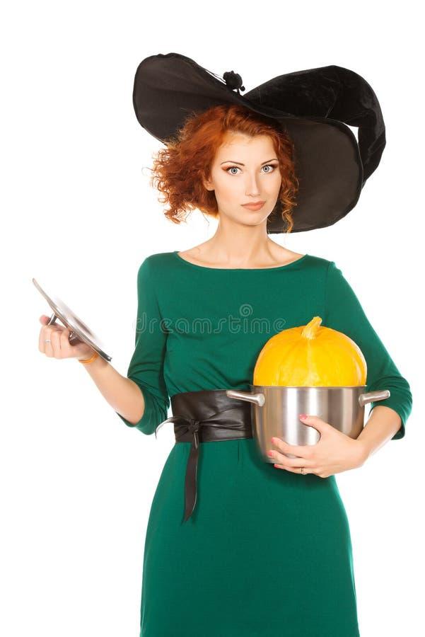 Pan With Pumpkin Stock Image