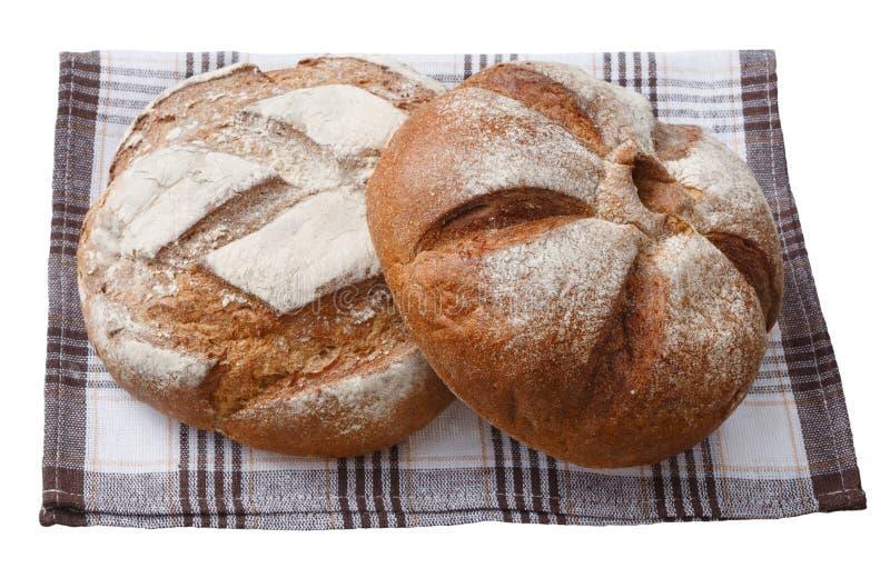 Pan que miente en una servilleta imágenes de archivo libres de regalías