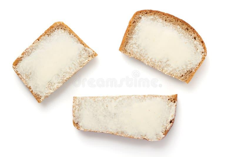 Pan rebanado aislado en blanco foto de archivo libre de regalías