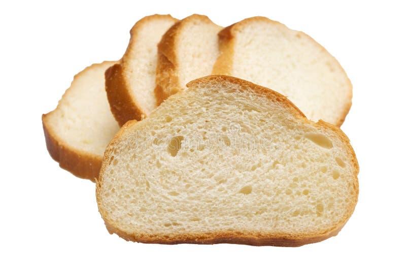 Pan rebanado aislado en el blanco fotos de archivo