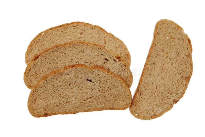 Pan rebanado aislado en el fondo blanco foto de archivo