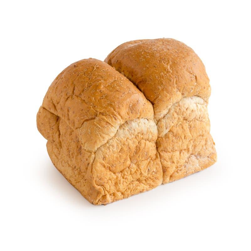 Pan recientemente cocido aislado en el fondo blanco fotos de archivo