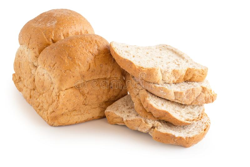 Pan recientemente cocido aislado en el fondo blanco fotografía de archivo libre de regalías