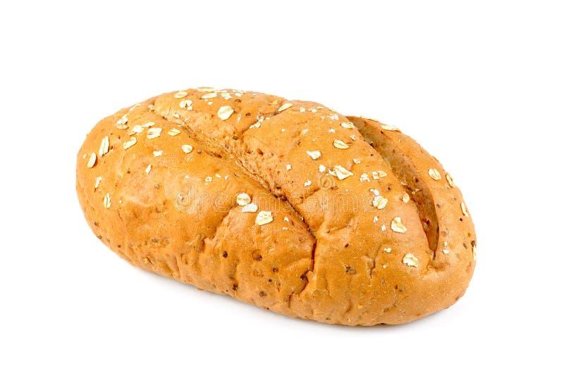 Pan recientemente cocido aislado en el fondo blanco, barra de pan fotos de archivo
