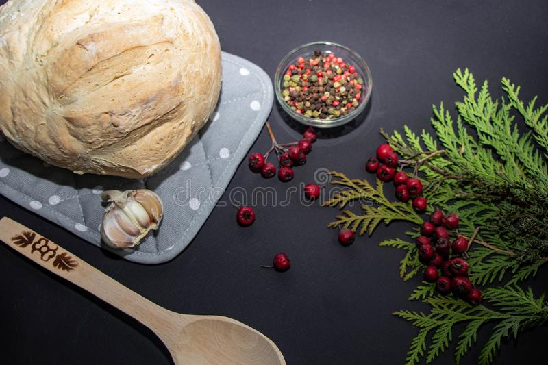 Pan recientemente cocido hecho en casa foto de archivo libre de regalías