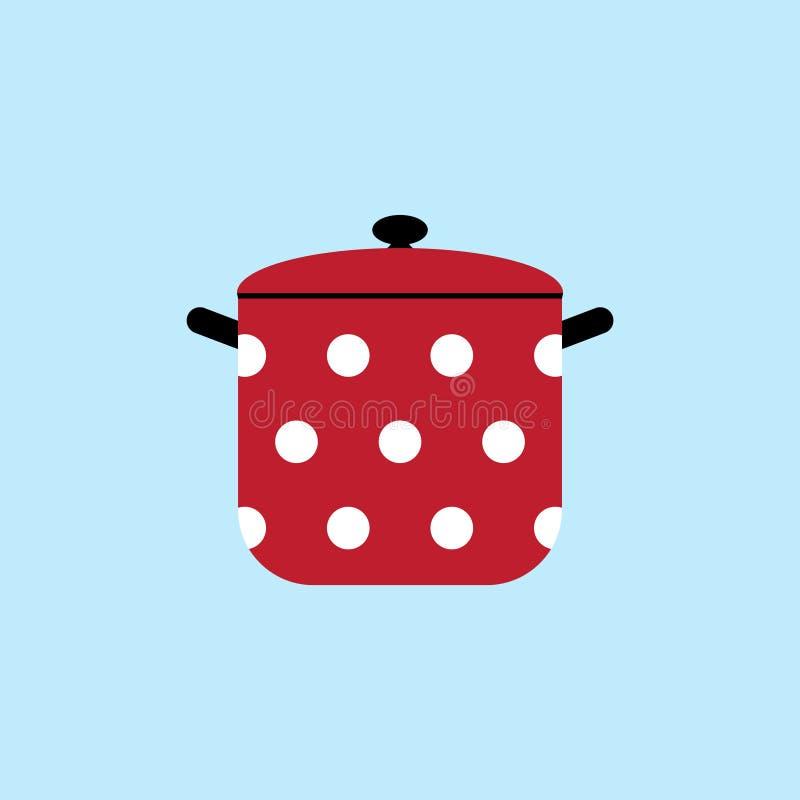 Pan rood vectorpictogram vector illustratie