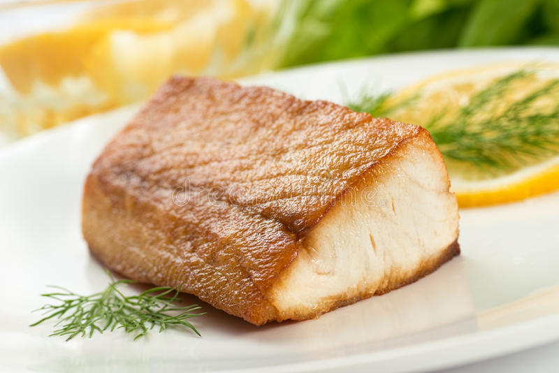 Pan Seared Fish royalty-vrije stock afbeelding