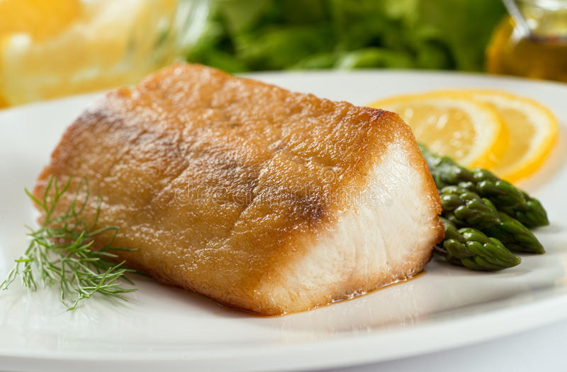 Pan Seared Fish royalty-vrije stock foto's