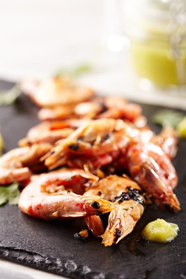Pan Seared Shrimp stock fotografie