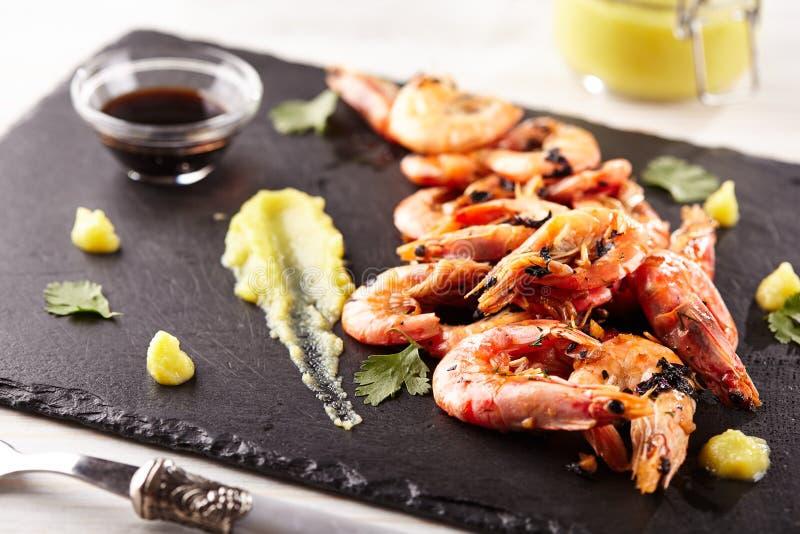 Pan Seared Shrimp royalty-vrije stock foto's