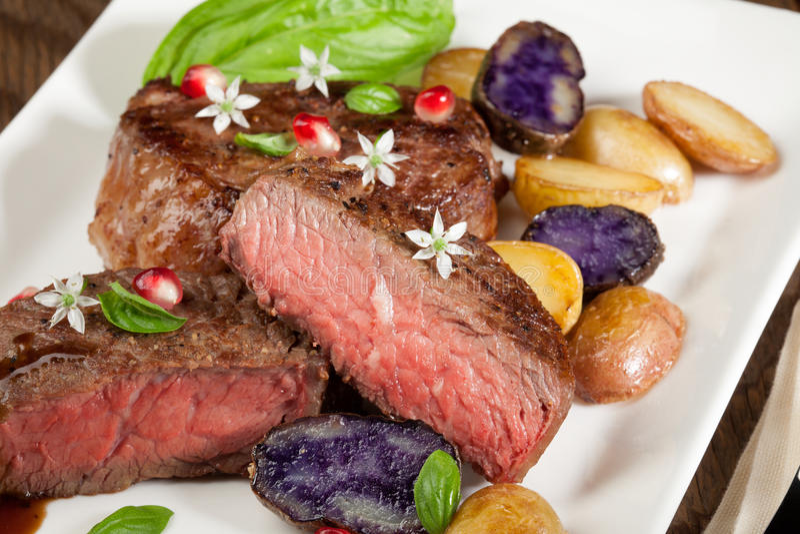 Pan Seared Steak royalty-vrije stock afbeeldingen