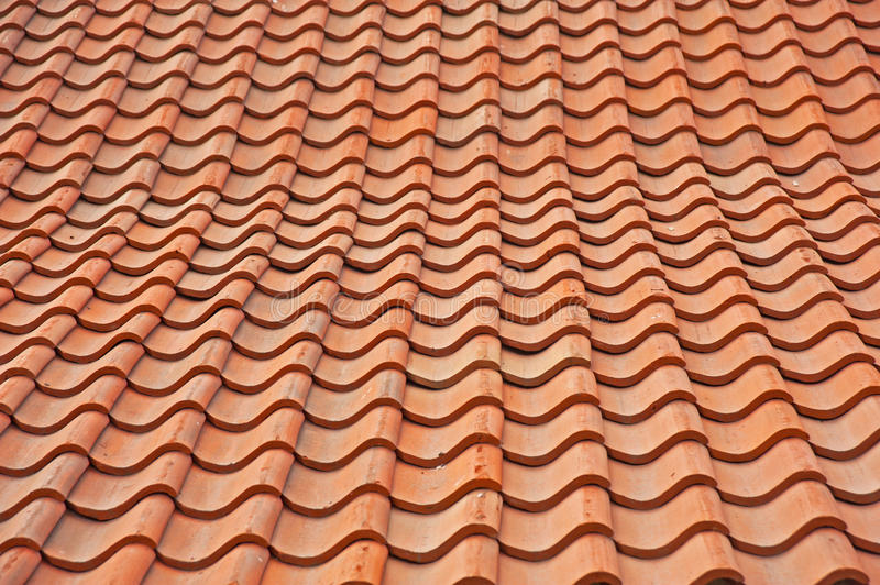 Pan Tile Roof Background Royalty Free Stock Images