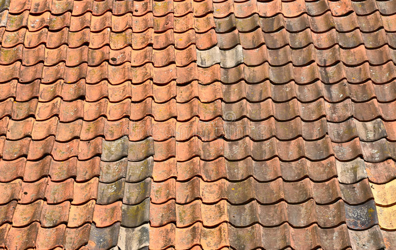 Download Pan tiled roof stock photo. Image of tiled, background - 25746316