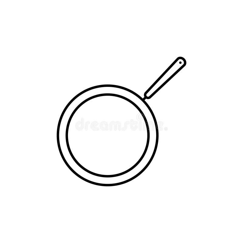 Pan vectorpictogram vector illustratie