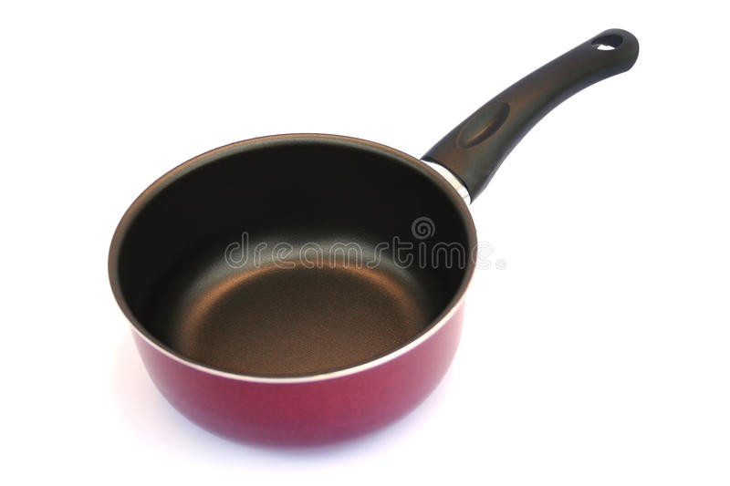 Pan on white stock photography